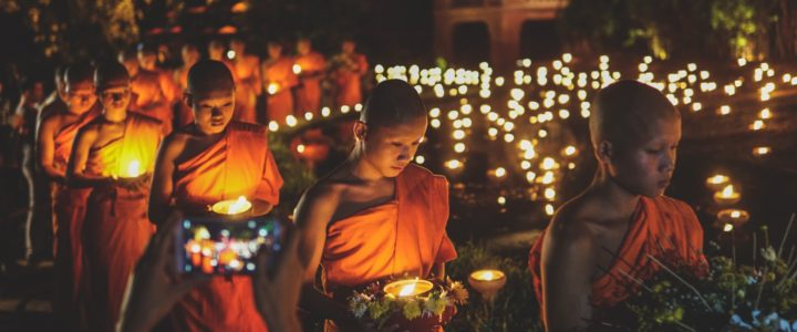 Visakha Bucha Day at Wat Phan Tao 2018