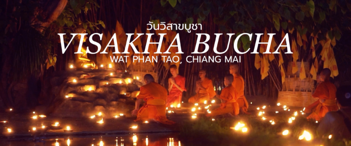 Visakha Bucha Night 2019 at Wat Phan Tao