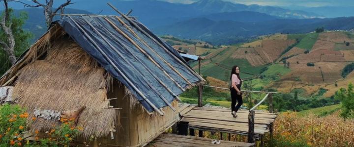 บ้านริมนา นาขั้นบันได บ้านป่าบงเปียง แม่แจ่ม เชียงใหม่